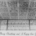 The Beijerinck ceiling in the entrance to the Laboratory for Microbiology, 1958