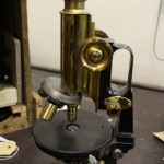 "19th century ""jug handled"" Zeiss microscope"