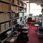 Archive boxes and the wall chart cabinets